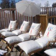 Bains de soleil terrasse