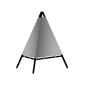 Technical drawing Tripod beacon