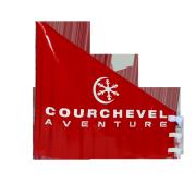Porte SX BX VTT rouge Courchevel