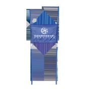 Banderole porte de géant bleue Courchevel