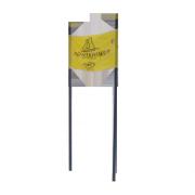 Banderole porte de géant jaune Contamines
