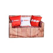 Canapé en mousse bois face