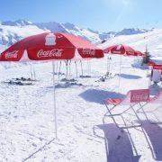 Parasol rond Coca-Cola