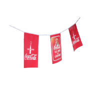 Club flag garland Coca-Cola