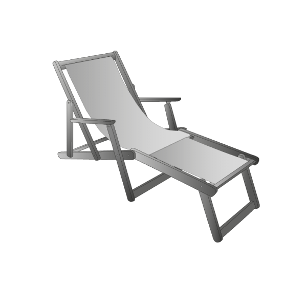 Technical drawing Sun lounger