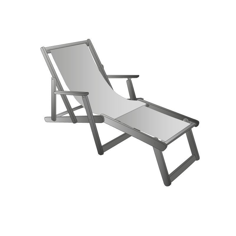 chaise bain de soleil cap mer et montagne. Black Bedroom Furniture Sets. Home Design Ideas
