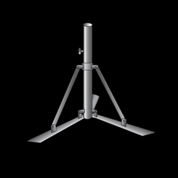 Technical drawing Tripod pole holder