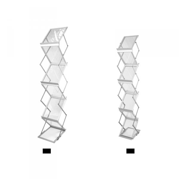 technical drawing Plexiglas foldable briefcase