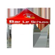Tente pliante carrée Bar le schuss