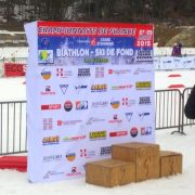 Fond de stand pliable Biathlon face podium