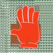 Main en mousse de supporters rouge